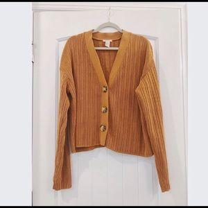 EUC Premium Quality Ribbed Knit Cropped Cardigan